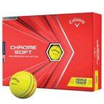 Callaway Chrome Soft Triple Track Golfbolde Gul