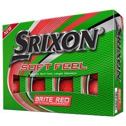 Srixon Soft Feel Brite Røde Golfbolde